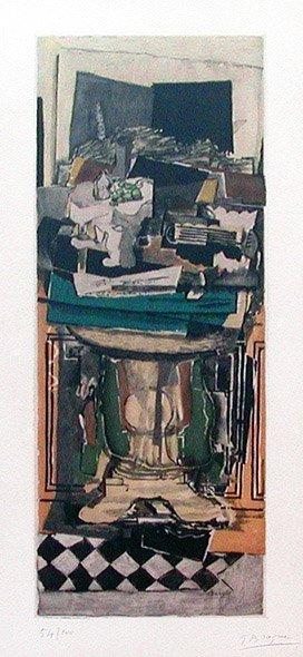 118C: Braque, Georges, Signed Original Etching Aquatint
