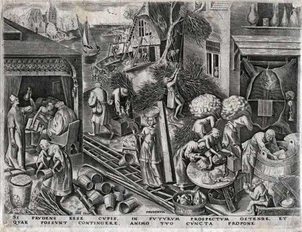 123C: Brueghel the Elder, Pieter, Original Engraving