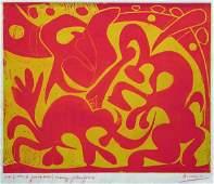302C: Picasso, Pablo, Original Linocut / Linoleum Cut