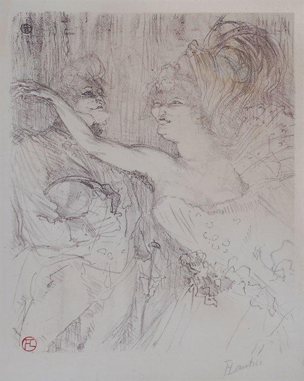 392C: Toulouse-Lautrec, Hand signed Original Lithograph
