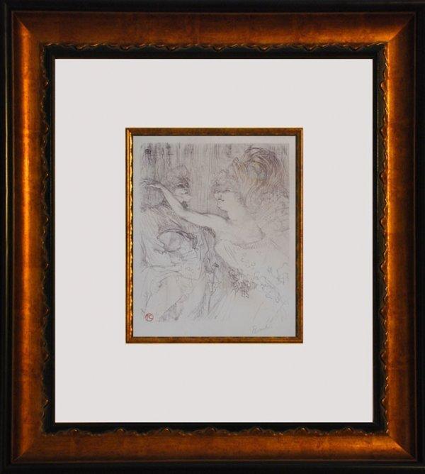 392C: Toulouse-Lautrec, Hand signed Original Lithograph - 2