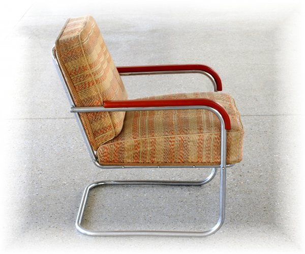 "12:  ""Anton LorenzSteel tube armchair B-36, produced by"