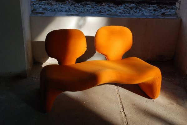 "15:  ""Olivier MourgueDjinn Sofa, designed in 1965 for A"