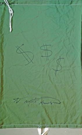 306: ANDY WARHOL - Laundry Bag Dollar Signs