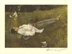706: ANDREW WYETH [d'apres] - The Berry Picker