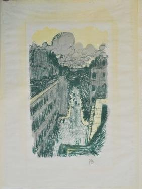 768: PIERRE BONNARD - Rue vue d'en haut