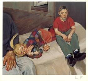 799: LUCIAN FREUD - Polly, Barney and Christopher