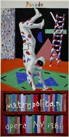 822: DAVID HOCKNEY - Parade, Metropolitan Opera, N.Y.,