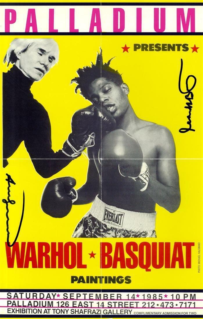 828: JEAN-MICHEL BASQUIAT & ANDY WARHOL - Palladium