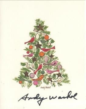 830: ANDY WARHOL - Ornamented Christmas Tree