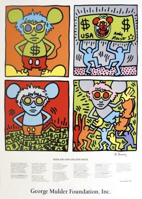 936: KEITH HARING - Keith and Andy and Andy Mouse