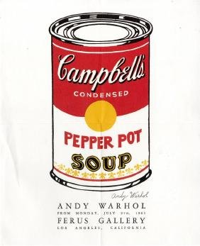 1123: ANDY WARHOL - Campbell's Soup - Pepper Pot