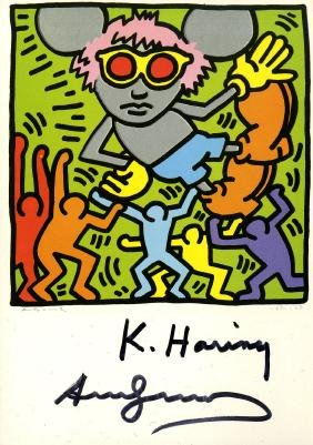 1179: KEITH HARING & ANDY WARHOL - Andy Mouse IV,
