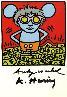 1180: ANDY WARHOL & KEITH HARING - Andy Mouse III,