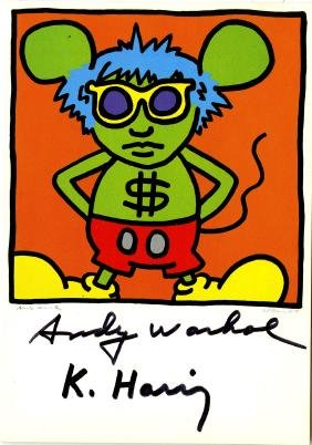 1182: KEITH HARING & ANDY WARHOL - Andy Mouse I, Homage