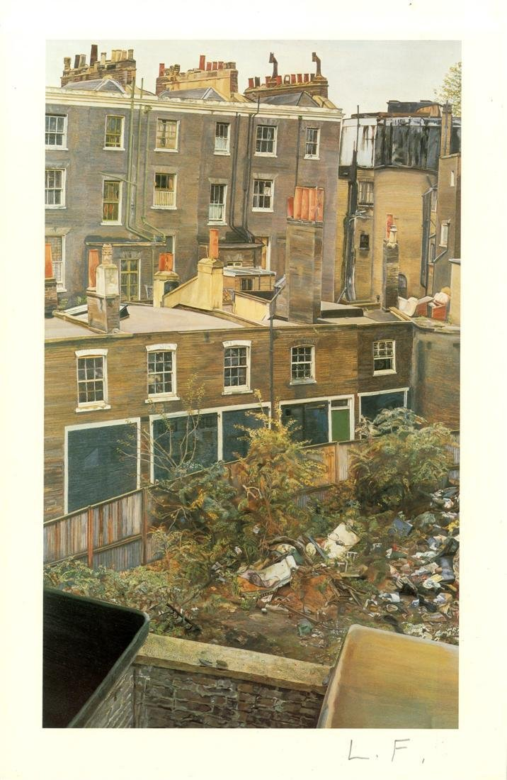 1207: LUCIAN FREUD - Wasteground with Houses,
