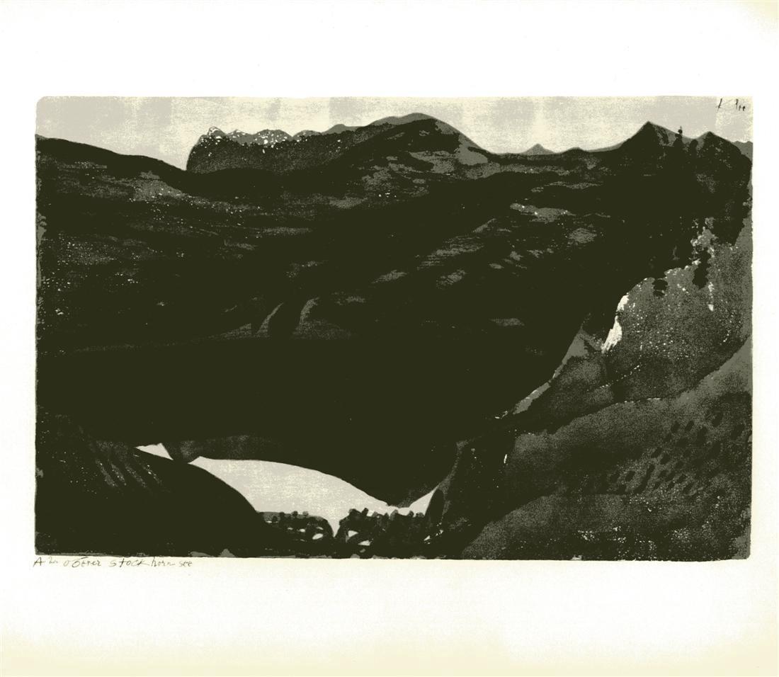 """1223: PAUL KLEE - Upper Lake Stockhorn [""""Oberer"""