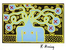 1229: KEITH HARING - Untitled 1985 (Medusa)