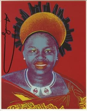 1373: ANDY WARHOL - Queen Notombi (#4)