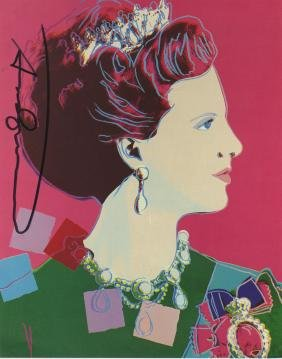 1377: ANDY WARHOL - Queen Margrethe (#4)