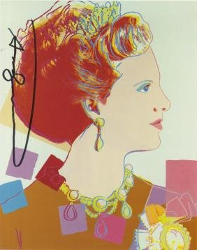 1378: ANDY WARHOL - Queen Margrethe (#3)