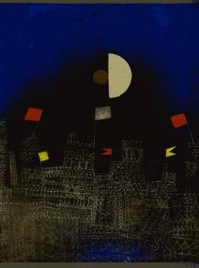 "1726: PAUL KLEE - City with Flags [""Beflaggte Stadt""]"