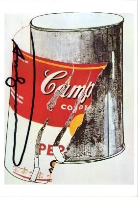 1759: ANDY WARHOL - Big Torn Campbells' Soup Can