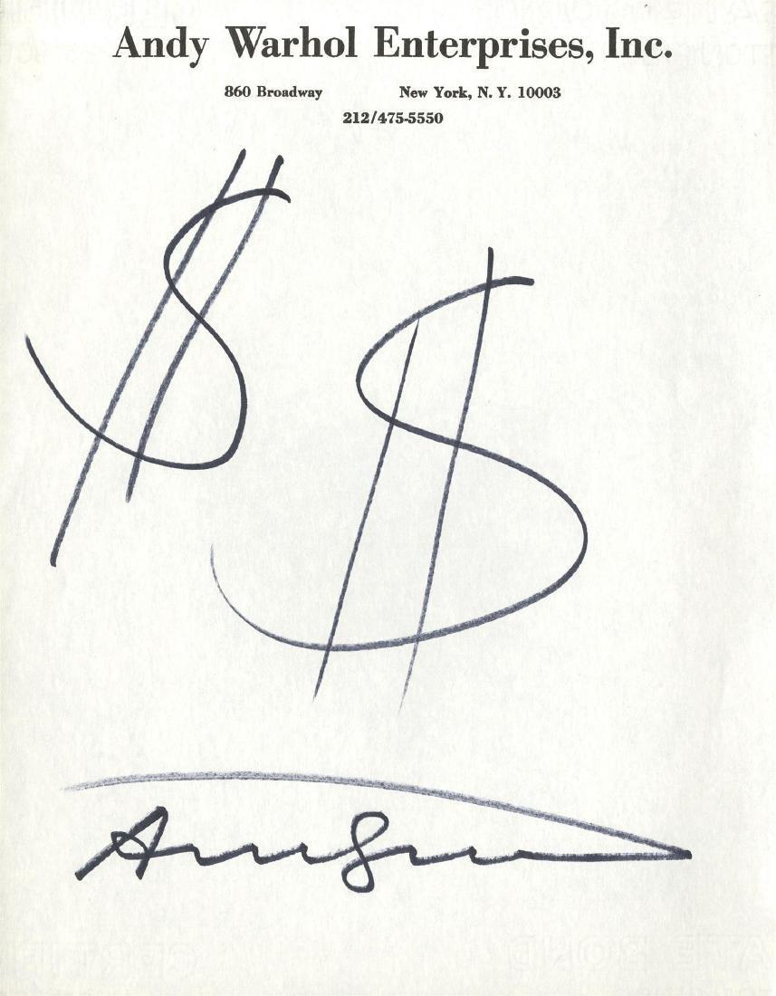 2: ANDY WARHOL - $$ [dollar signs]