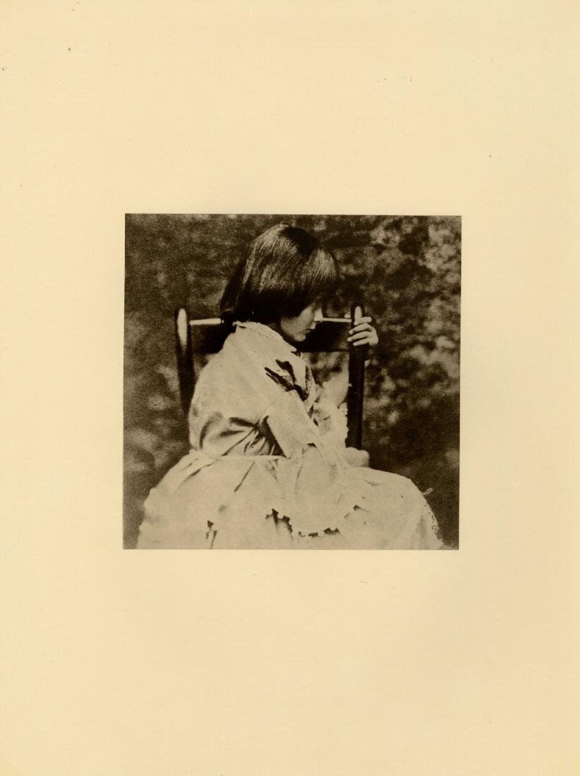 16: LEWIS CARROLL - Alice Liddell in Profile, Seated
