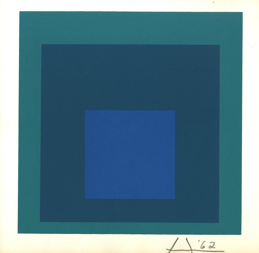 272: JOSEF ALBERS - Homage to the Square: Blue