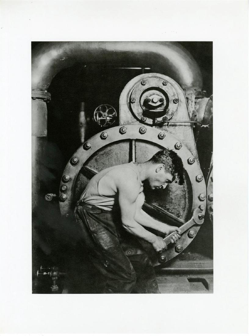 439: LEWIS HINE - Powerhouse Mechanic