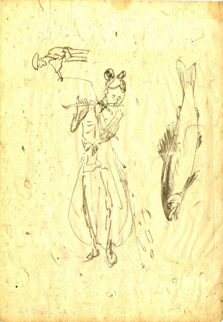 512: TSUKIOKA YOSHITOSHI - Study for Hanging Scroll #01