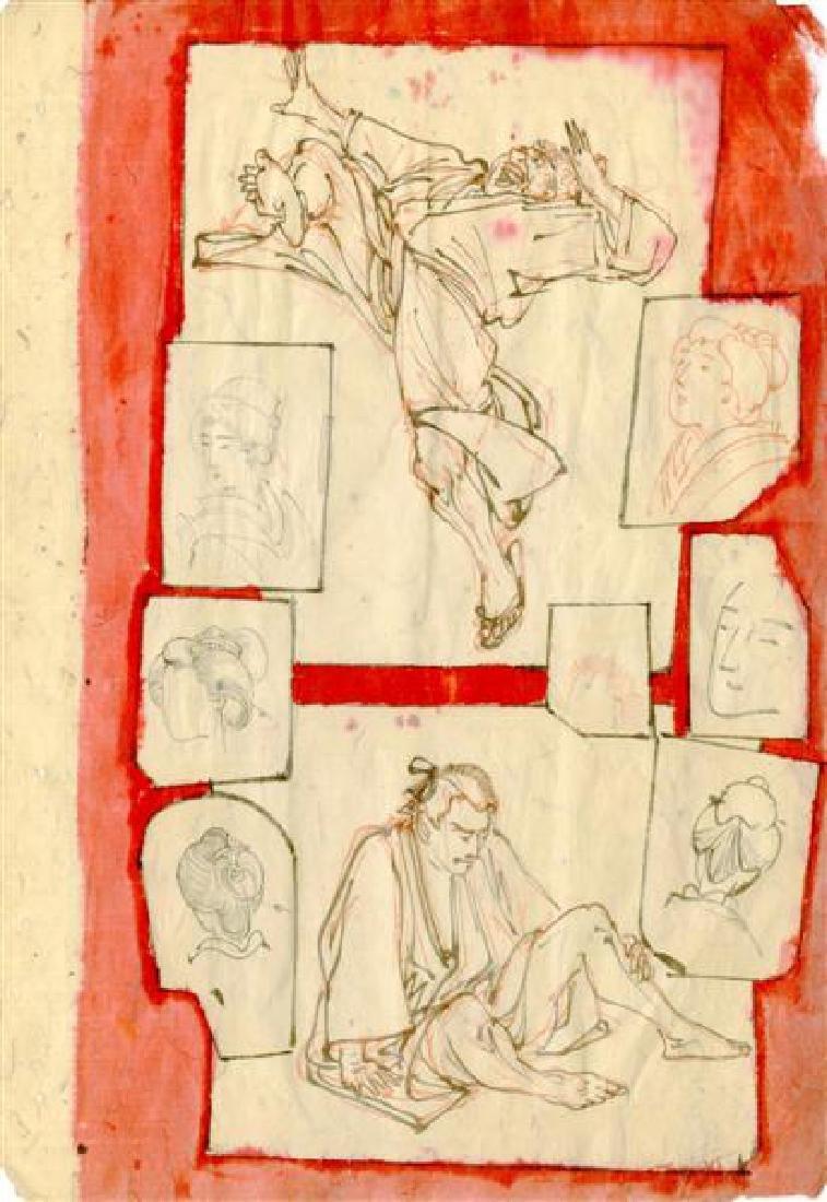 515: TSUKIOKA YOSHITOSHI - Study for Woodcut #09