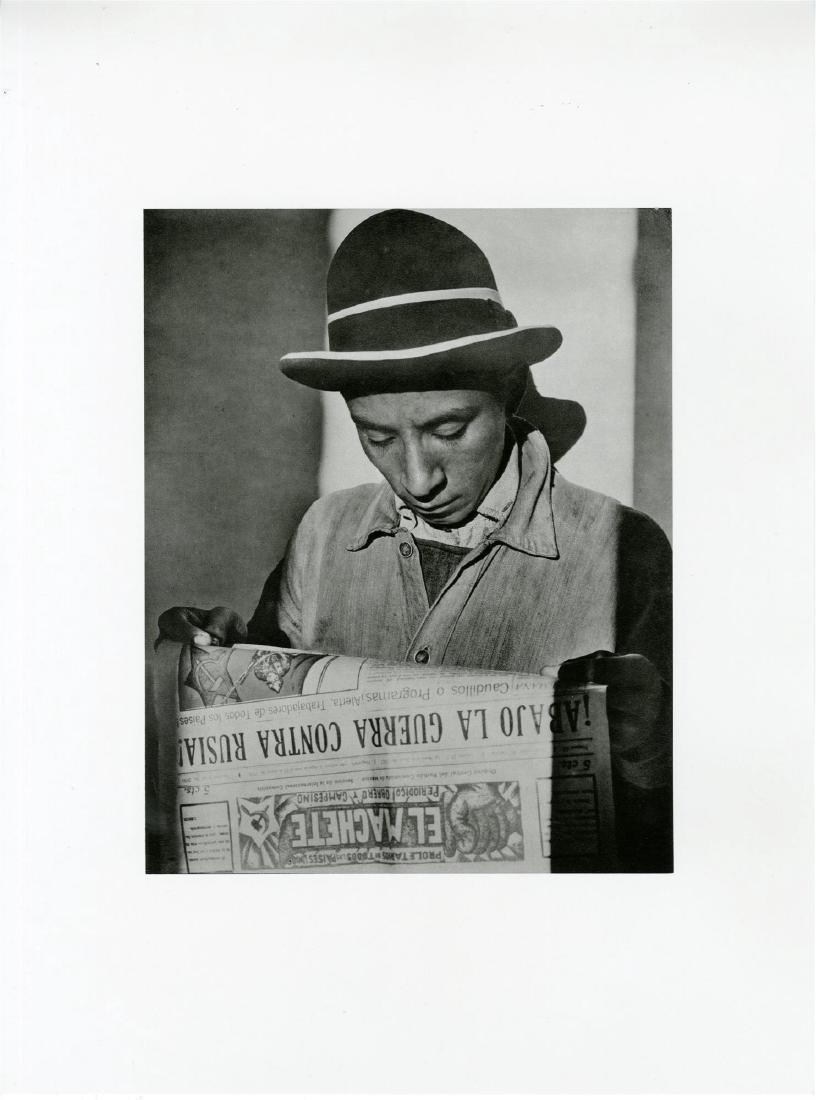 """628: TINA MODOTTI - Worker Reading """"El Machete"""""""