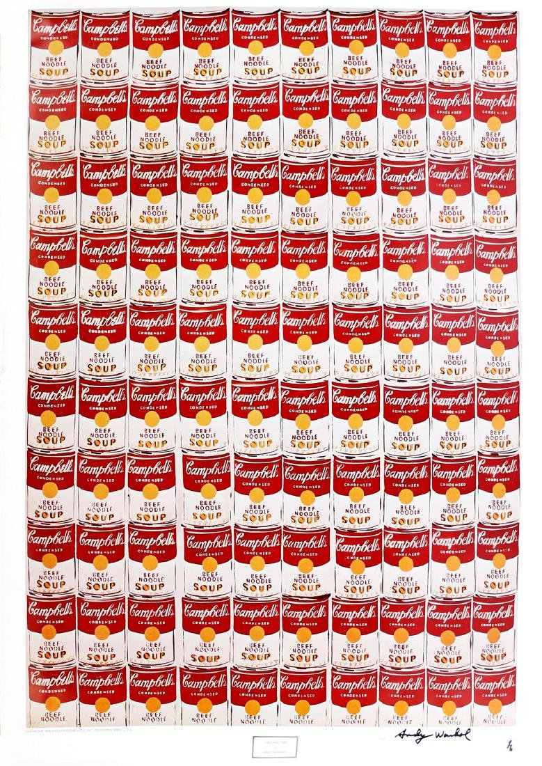 642: ANDY WARHOL - 100 Cans
