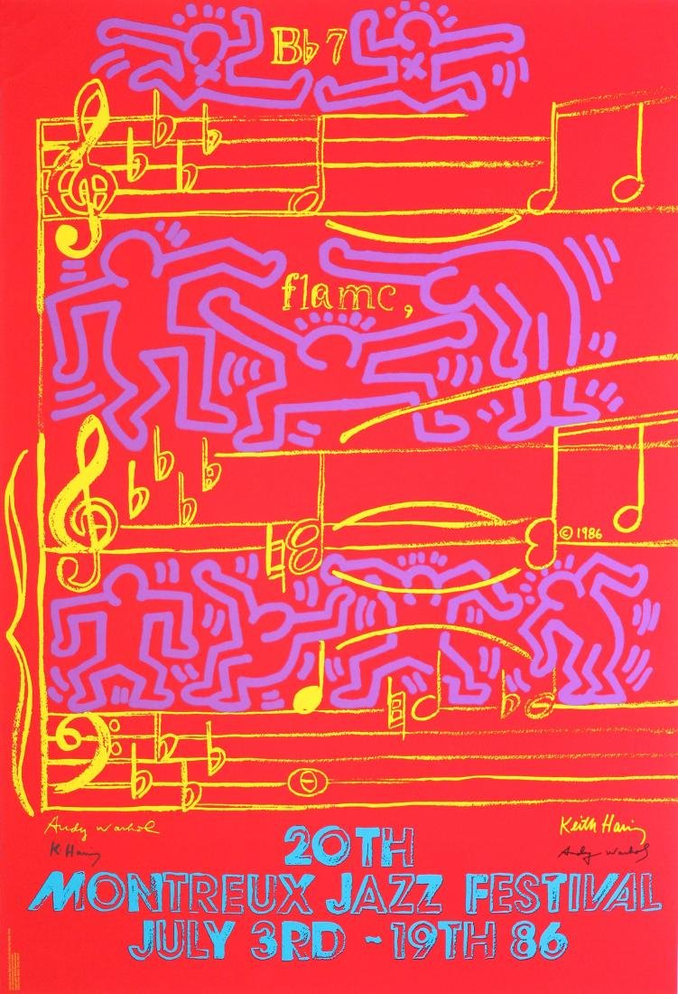 643: KEITH HARING & ANDY WARHOL - 20th Montreux Jazz