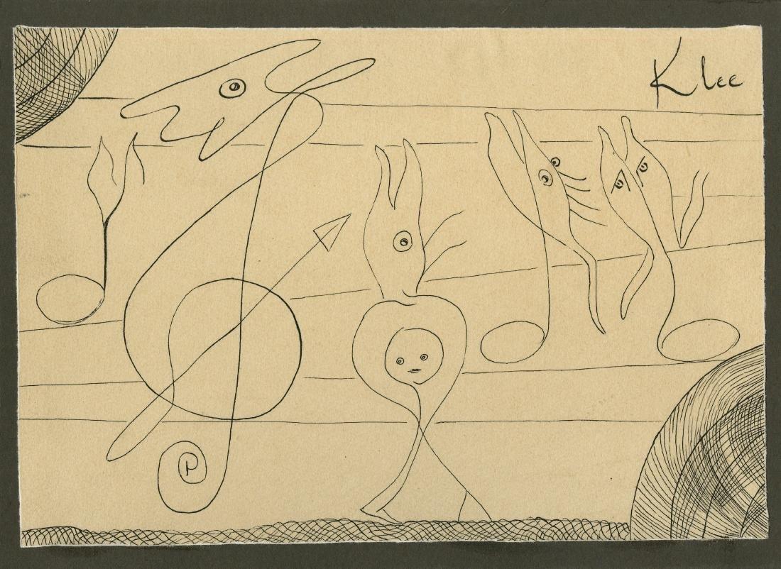 650: PAUL KLEE [par/imputee] - Abstrakte zeichnung