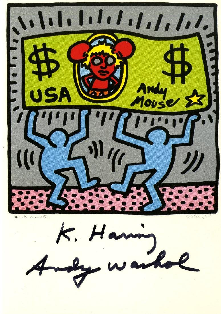 663: KEITH HARING & ANDY WARHOL - Andy Mouse II, Homage