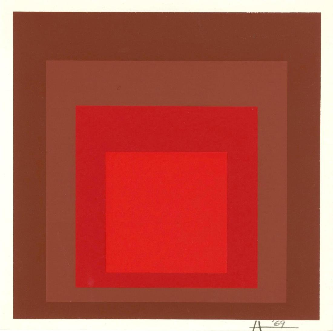 873: JOSEF ALBERS - Homage to the Square: R-I, d-5