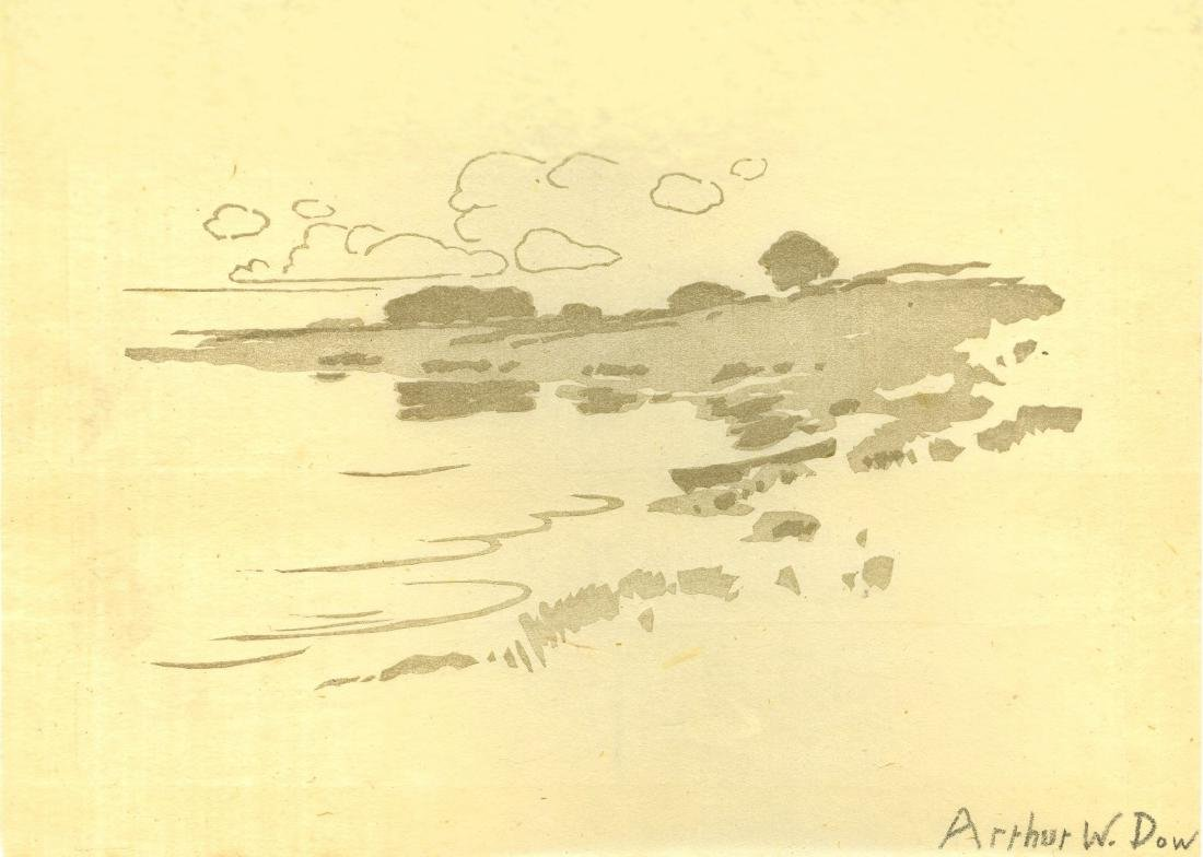 1139: ARTHUR WESLEY DOW - Shore of the Creek
