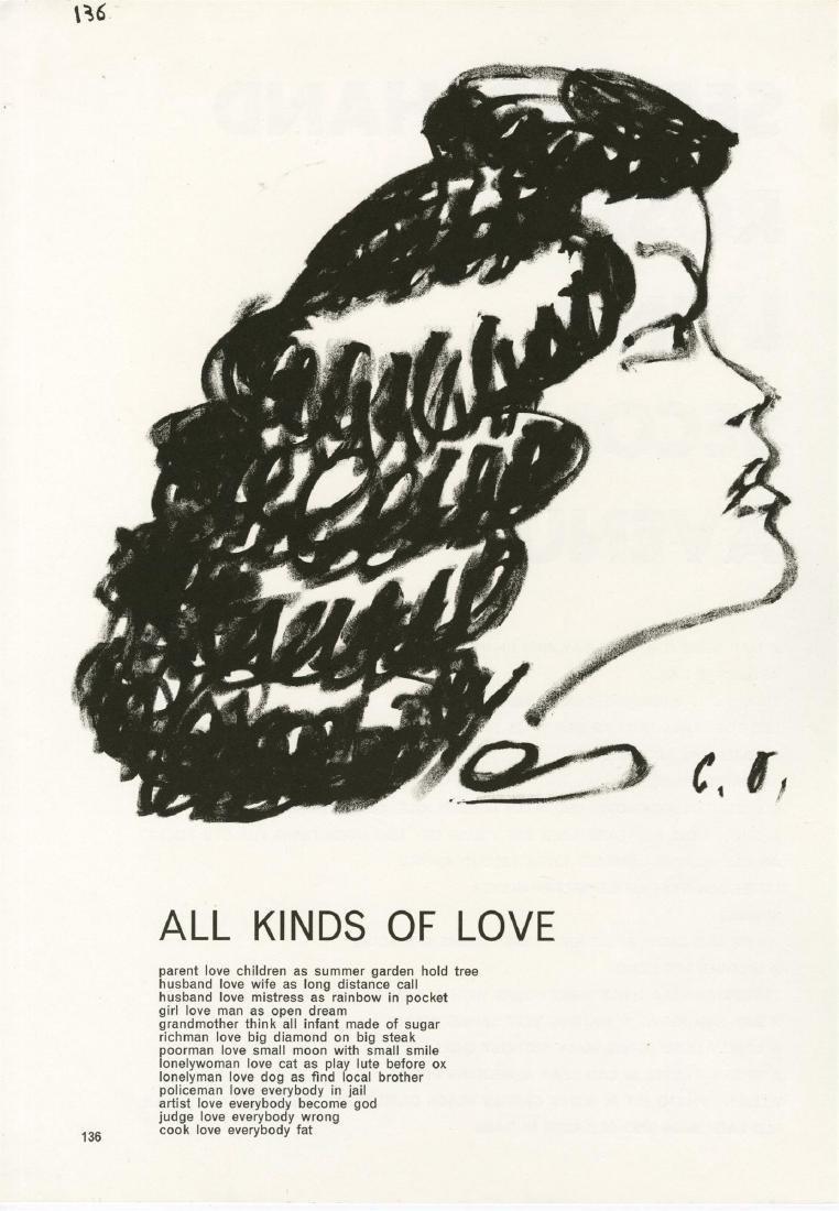 1303: CLAES OLDENBURG - All Kinds of Love