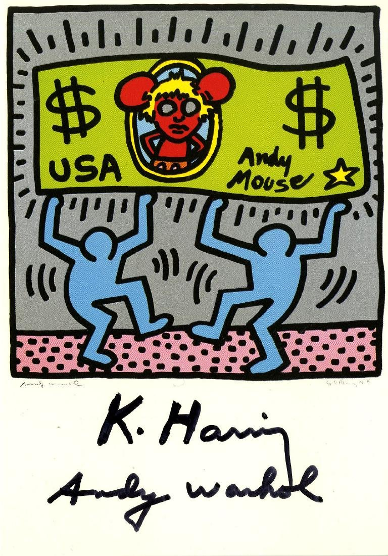 1307: ANDY WARHOL & KEITH HARING - Andy Mouse II,