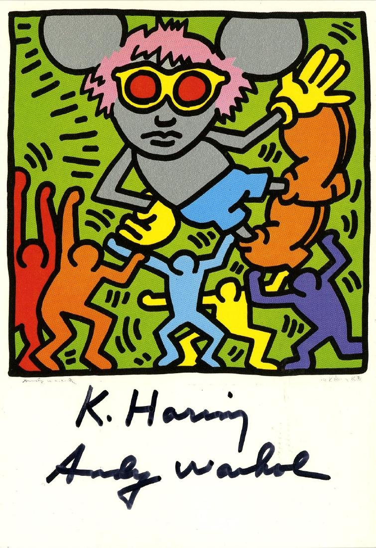 1309: ANDY WARHOL & KEITH HARING - Andy Mouse IV,