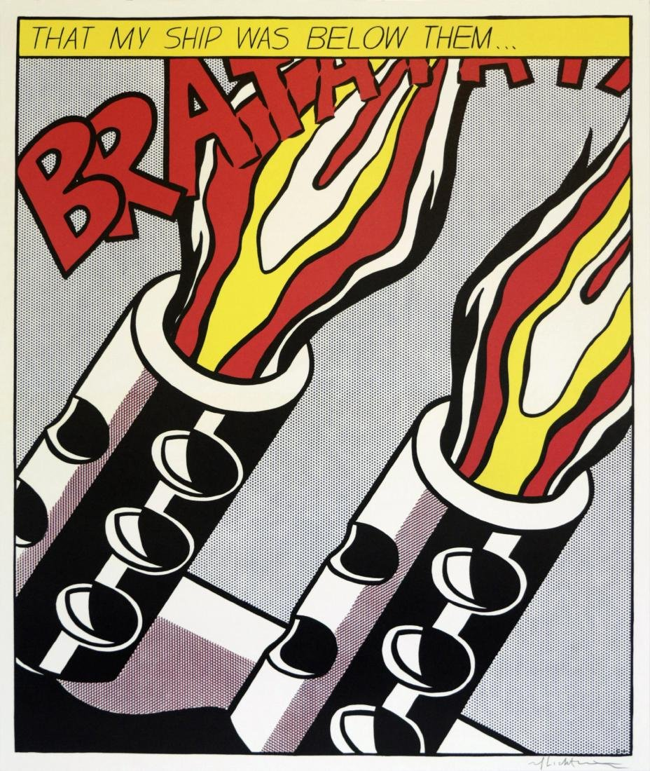 1319: ROY LICHTENSTEIN - As I Opened Fire [later - 3