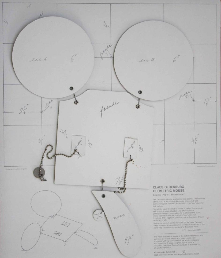 1477: CLAES OLDENBURG - Geometric Mouse - Scale D