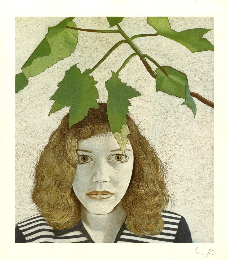 1483: LUCIAN FREUD - Girl with Leaves