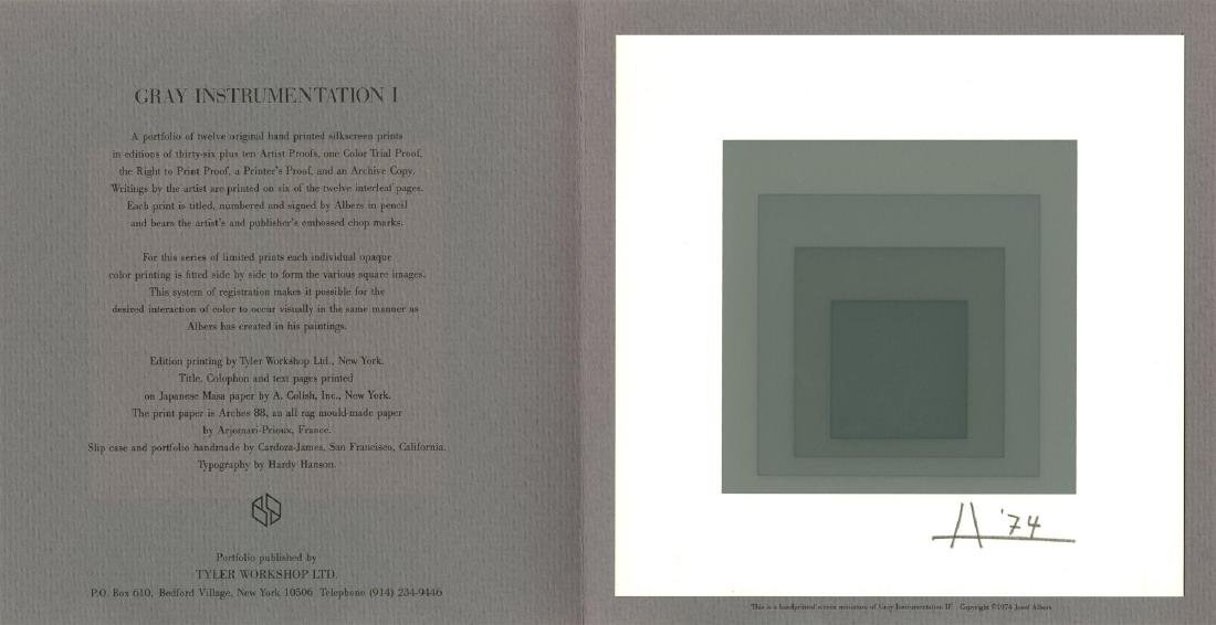 1513: JOSEF ALBERS - Homage to the Square: Gray - 3