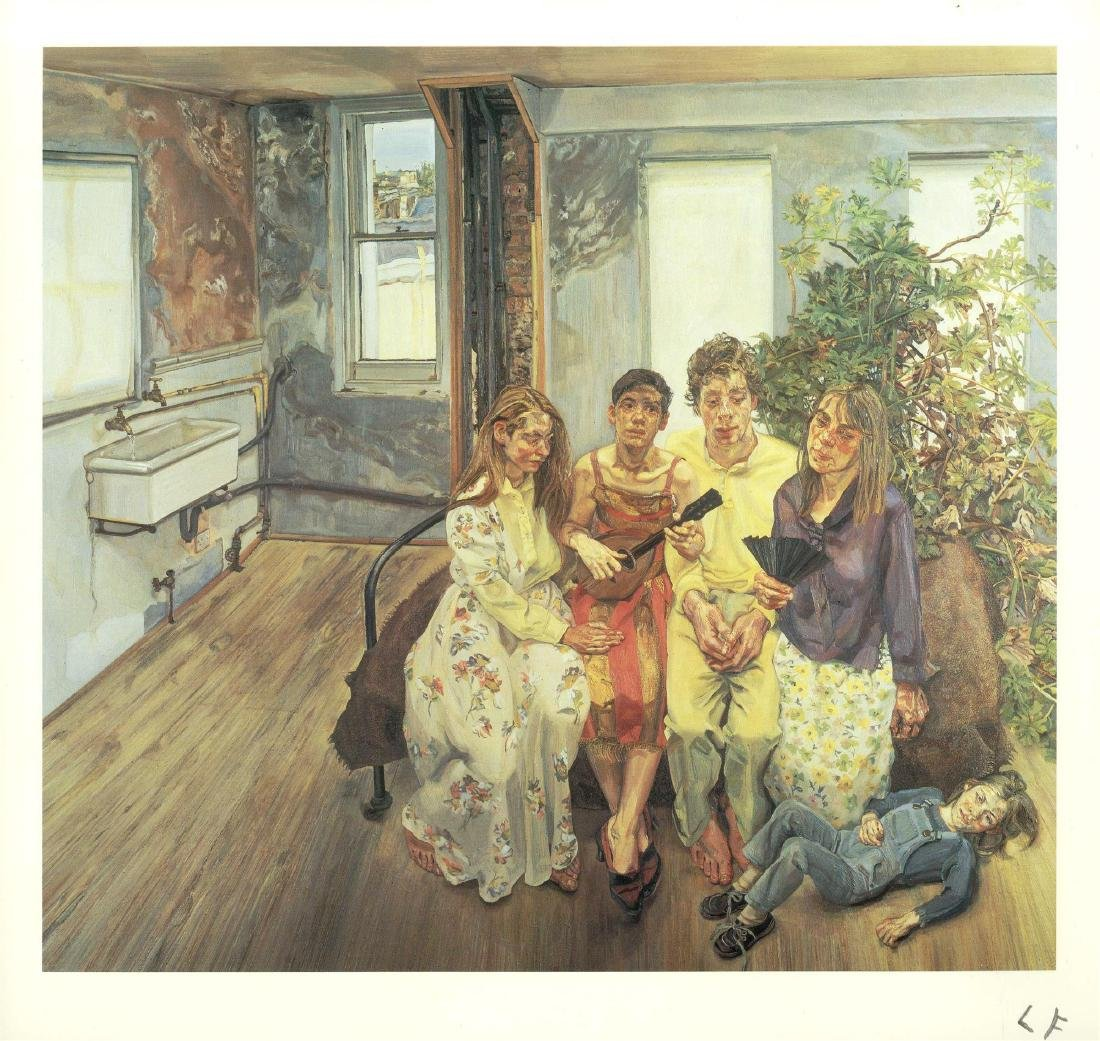1597: LUCIAN FREUD - Large Interior W11 (after Watteau)
