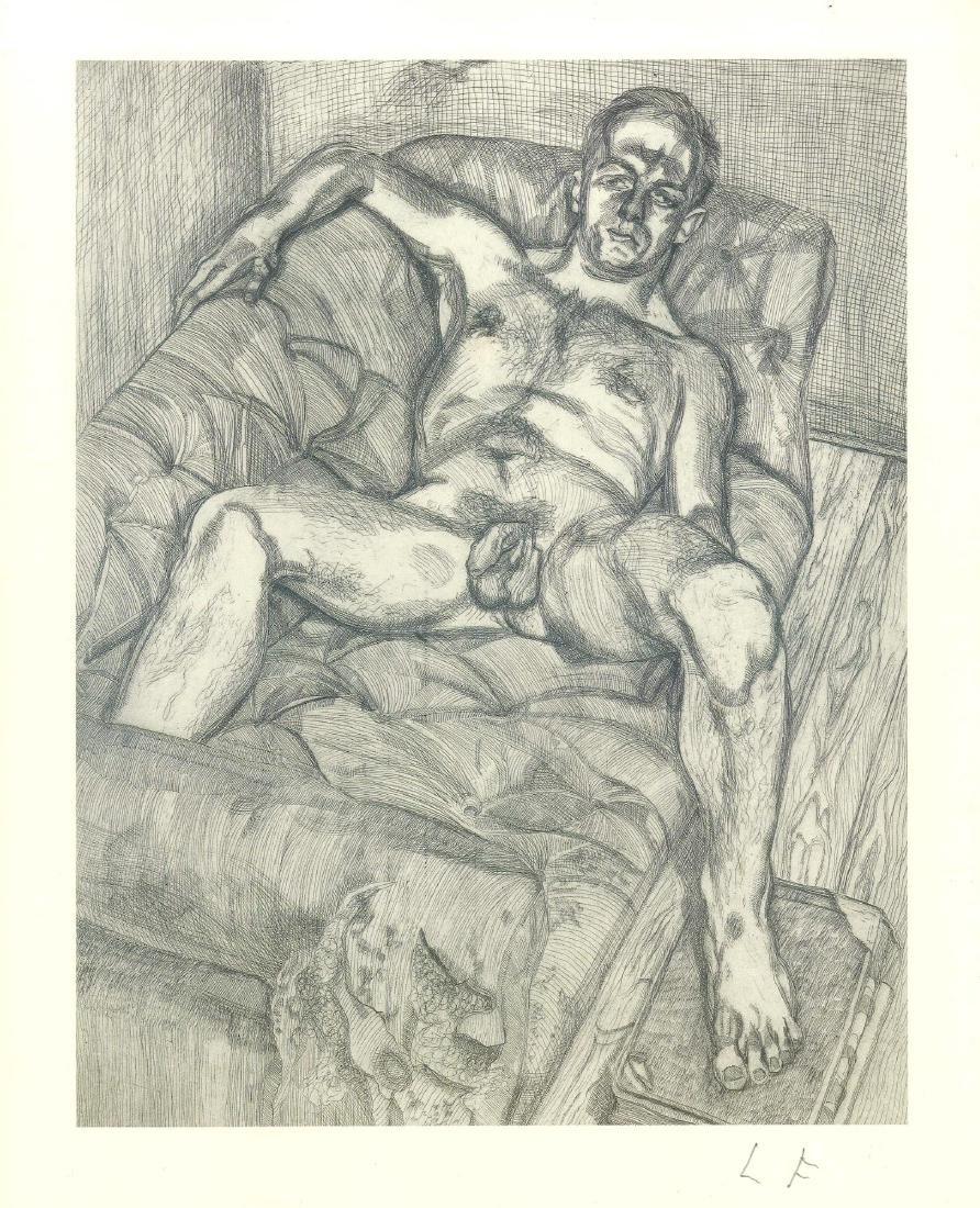 1617: LUCIAN FREUD - Man Posing