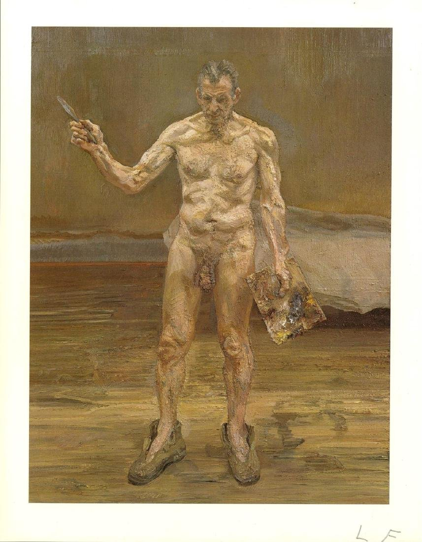 1747: LUCIAN FREUD - Painter Working, Reflection